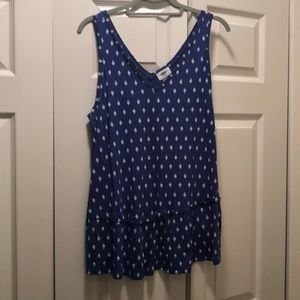 Old navy blue sleeveless shirt